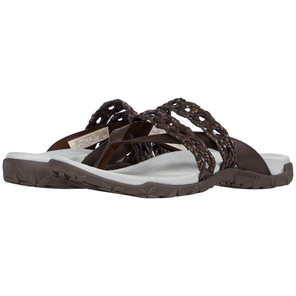 メレル Merrell レディース ビーチサンダル シューズ・靴【Terran Braid Thong】Espesso