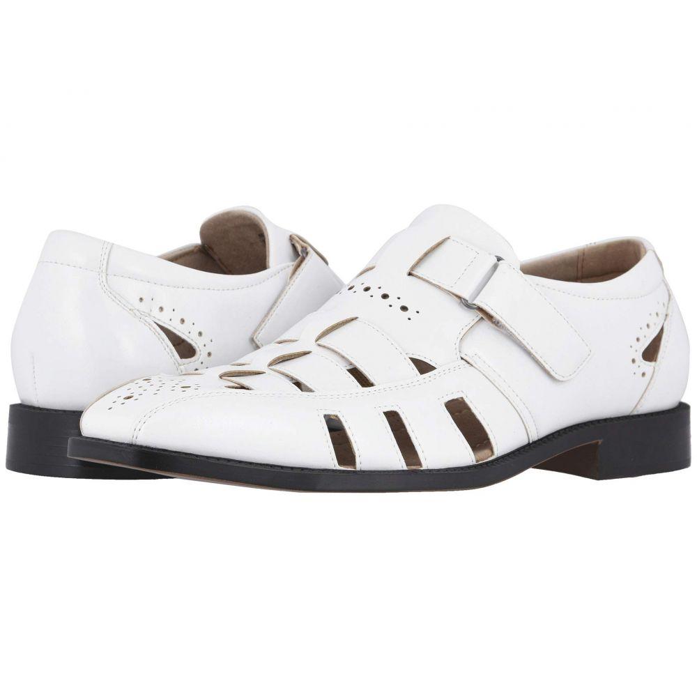 ステイシー アダムス Stacy Adams メンズ ローファー フィッシャーマンサンダル シューズ・靴【Calax Fisherman Sandal】White