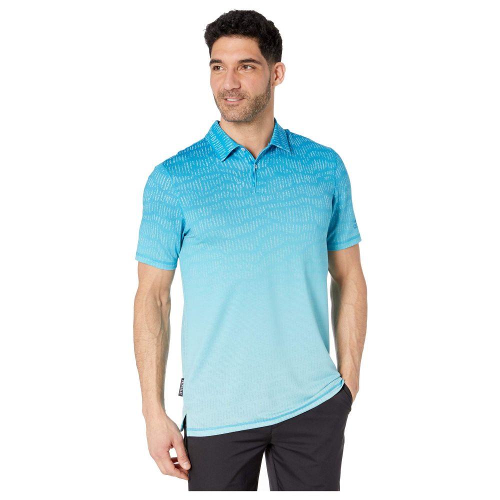 アディダス adidas Golf メンズ ポロシャツ トップス【Primeblue Block Polo Shirt】Sharp Blue