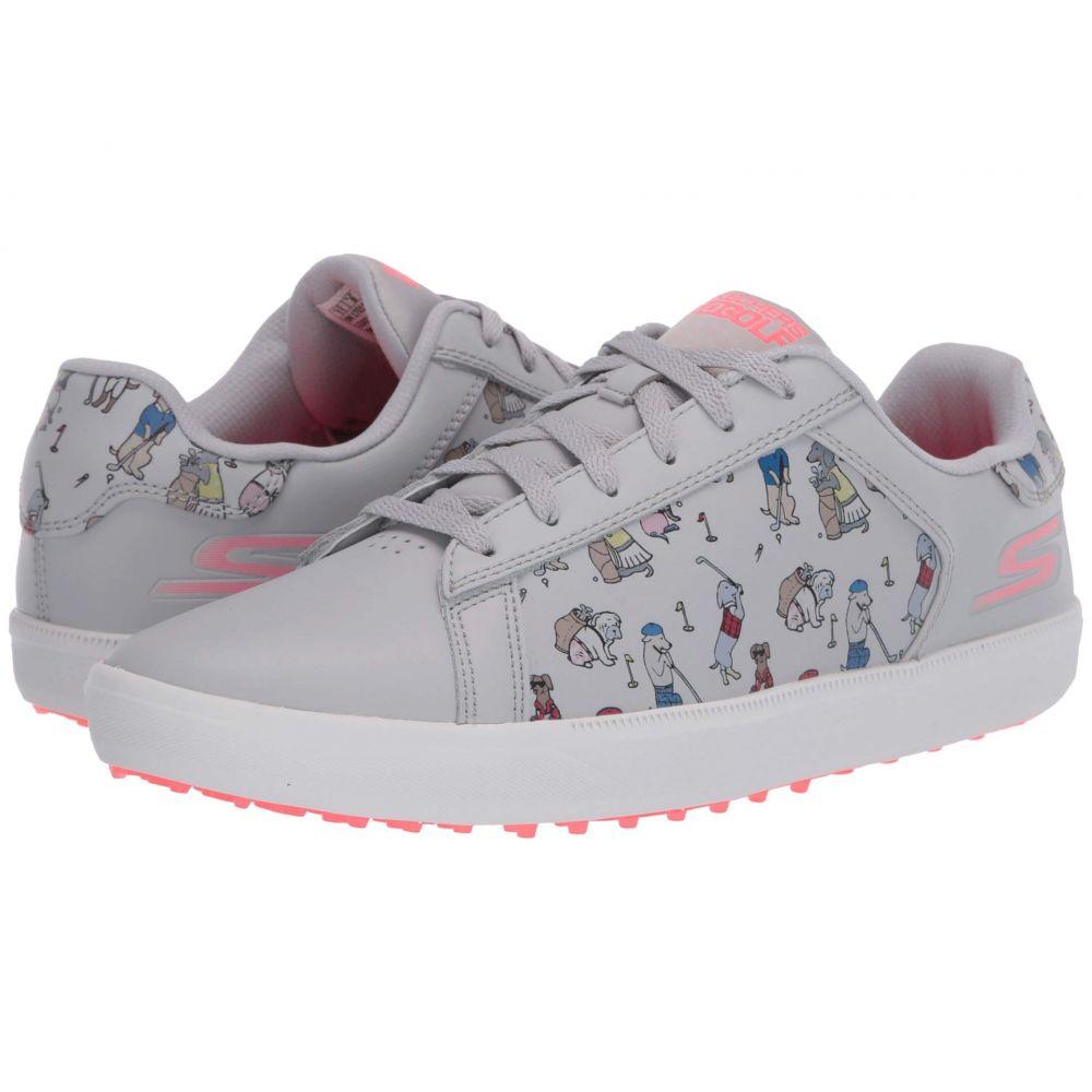 スケッチャーズ Skechers GO GOLF レディース スニーカー シューズ・靴【Drive - Dogs At Play】Gray/Pink