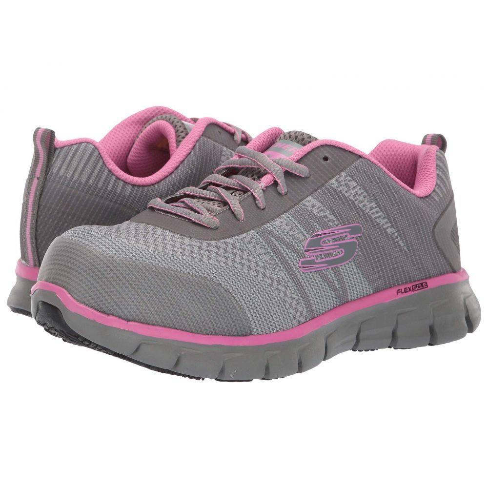 スケッチャーズ SKECHERS Work レディース スニーカー シューズ・靴【Sure Track - Saquenay】Gray/Pink