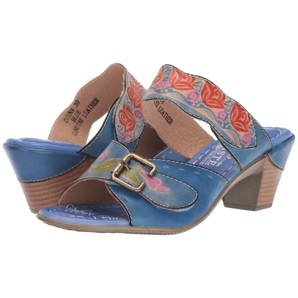 スプリングステップ L'Artiste by Spring Step レディース サンダル・ミュール シューズ・靴【Ozuna】Blue