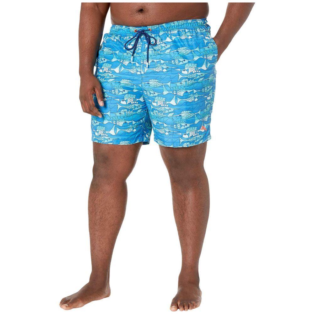 トミー バハマ Tommy Bahama Big & Tall メンズ 海パン 大きいサイズ 水着・ビーチウェア【Big & Tall Naples Blue Fish Bay】Turkish Sea