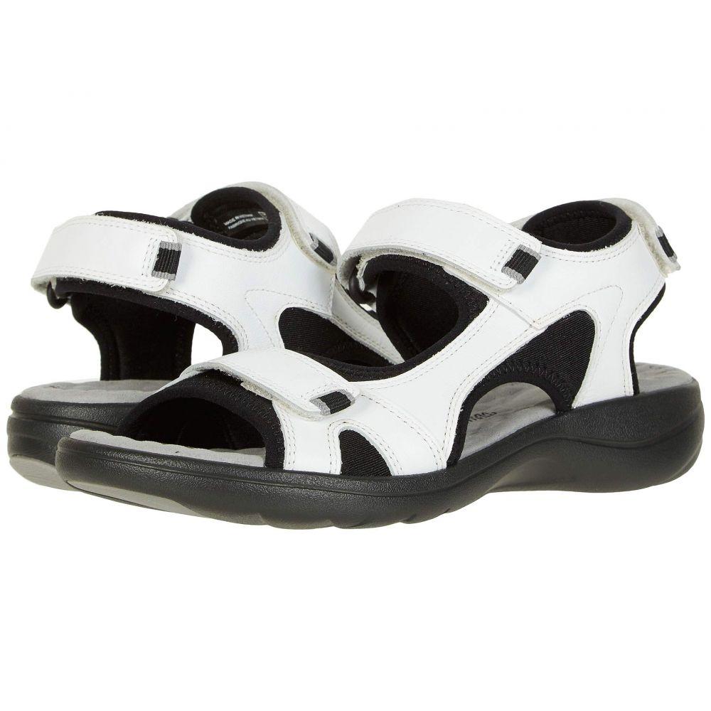 クラークス Clarks レディース サンダル・ミュール シューズ・靴【Saylie Spin】White Leather/Textile Combi