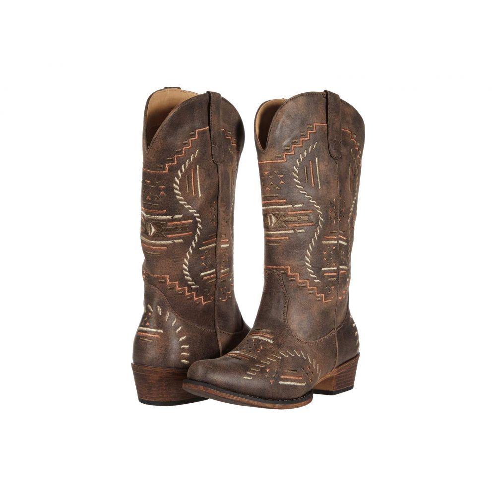ローパー Roper レディース ブーツ シューズ・靴【Riley Abstract】Brown Faux Leather