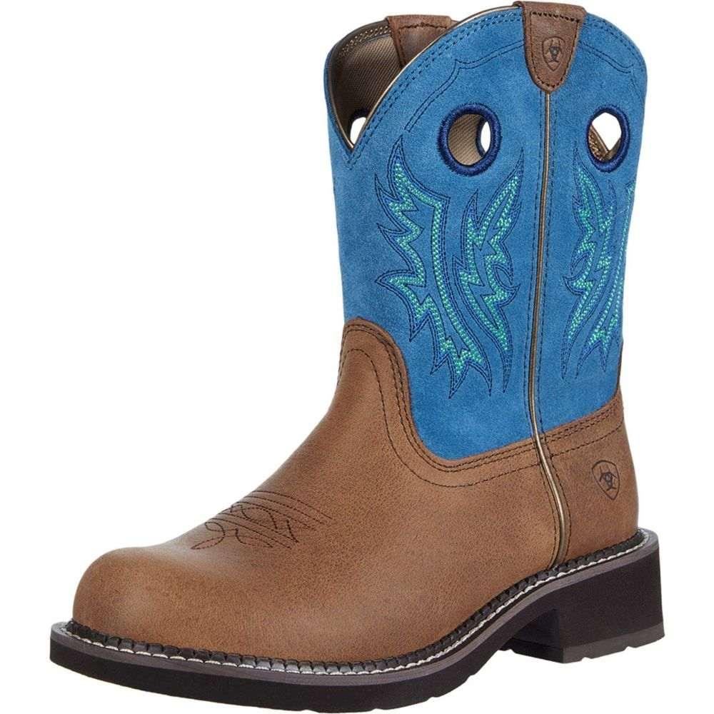 アリアト Ariat レディース ブーツ シューズ・靴【Fatbaby Heritage】Cowgirl Caramel/Bluebird