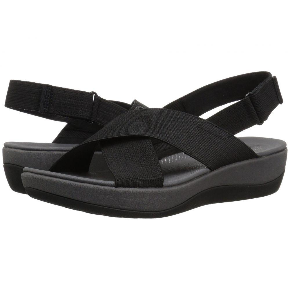 クラークス Clarks レディース サンダル・ミュール シューズ・靴【Arla Kaydin】Black Elastic Fabric