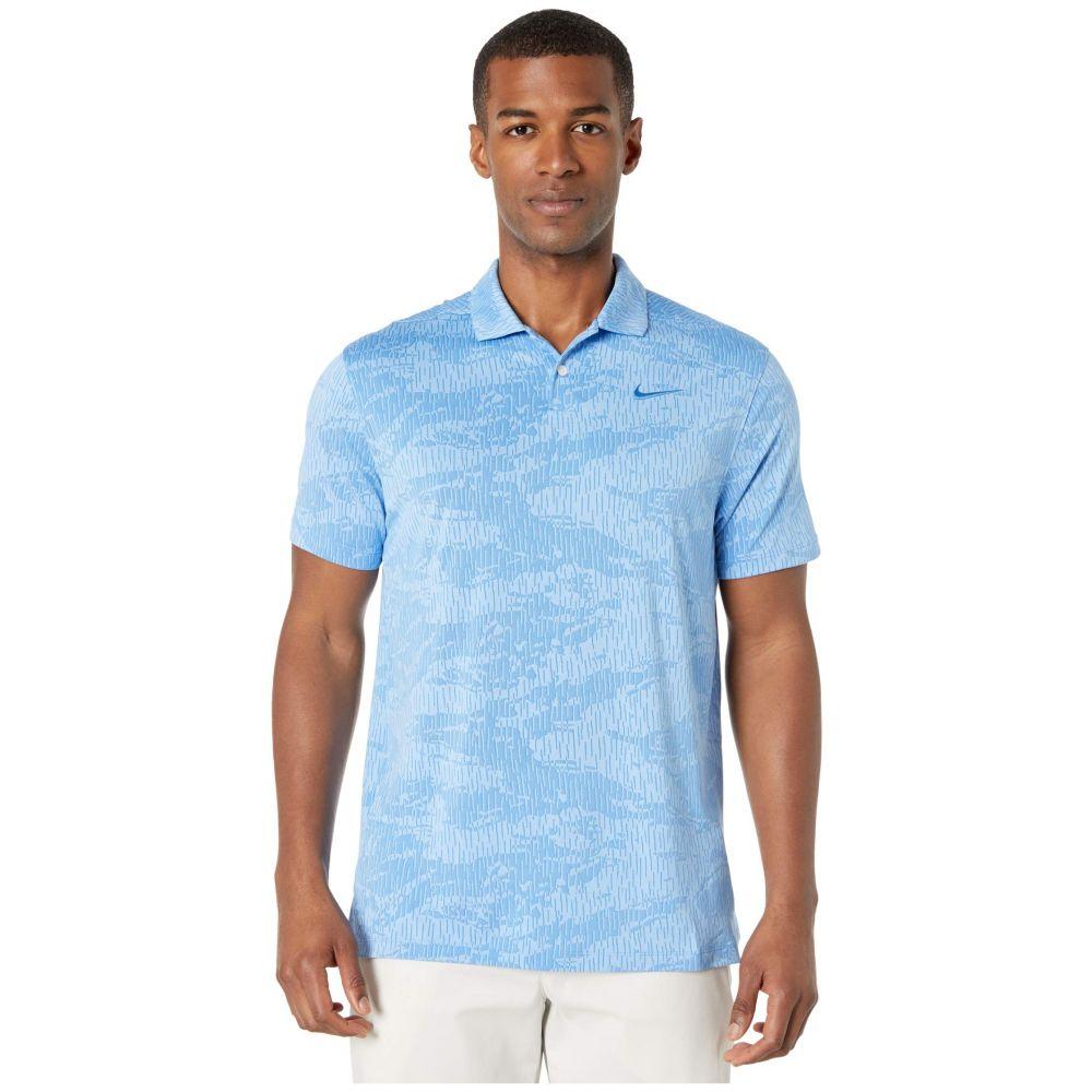 ナイキ Nike Golf メンズ ポロシャツ トップス【Dry Vapor Polo Camo Jacquard】Pacific Blue/Pacific Blue