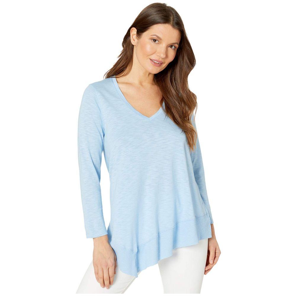 リラピー Lilla P レディース 長袖Tシャツ 七分袖 トップス【3/4 Sleeve Rib Hem Flame Modal T-Shirt】Hydrangea