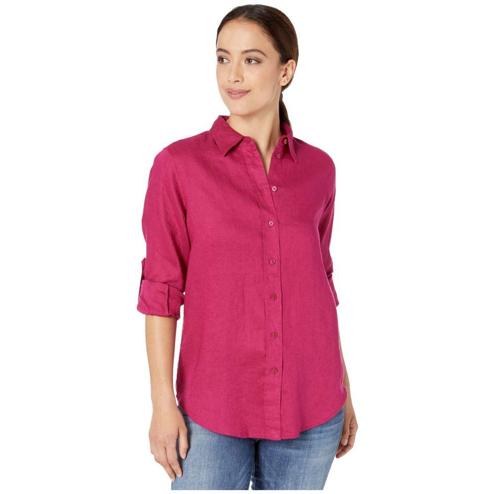 ラルフ ローレン LAUREN Ralph Lauren レディース ブラウス・シャツ トップス【Petite Linen Shirt】Bright Fuchsia