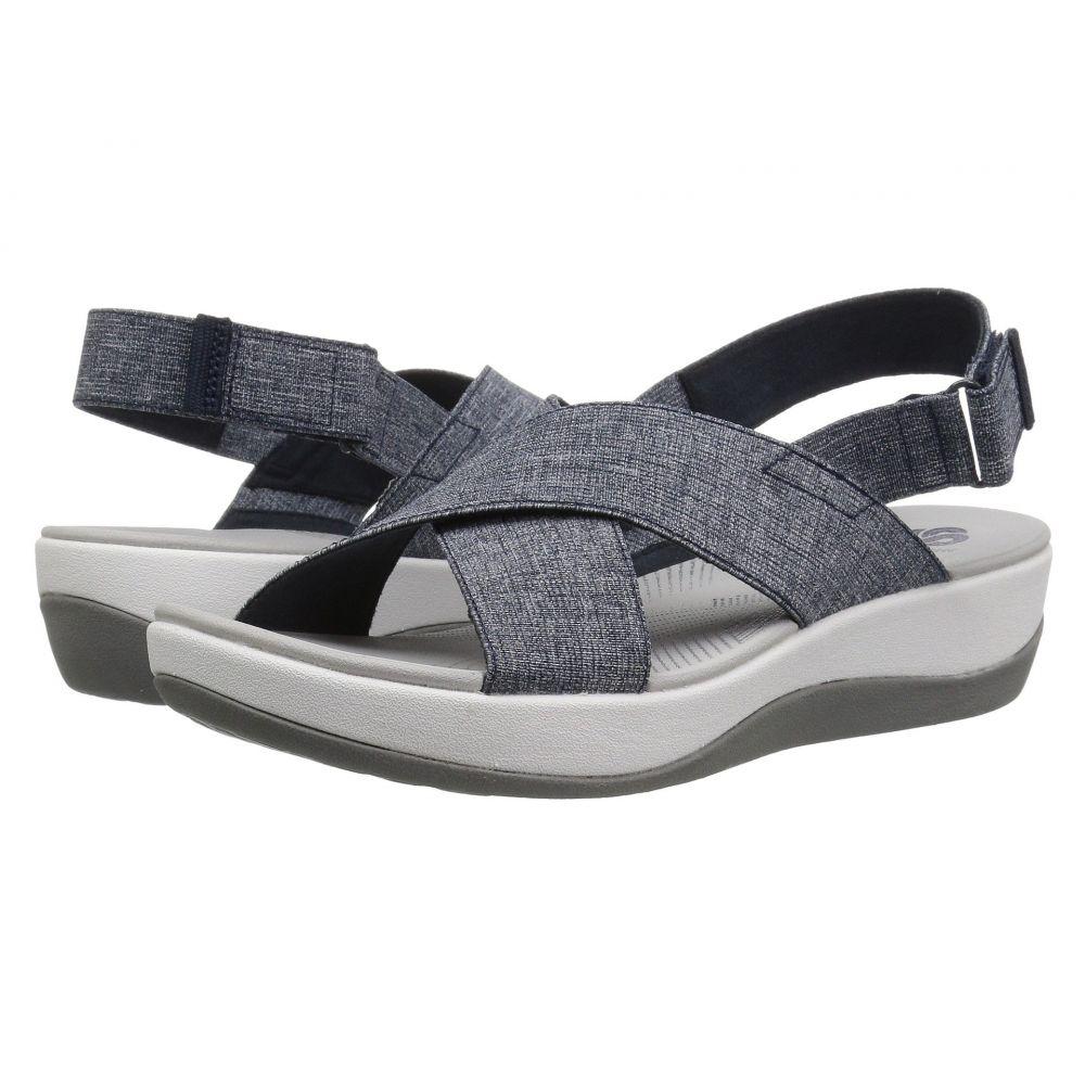 クラークス Clarks レディース サンダル・ミュール シューズ・靴【Arla Kaydin】Navy/White Heathered Elastic