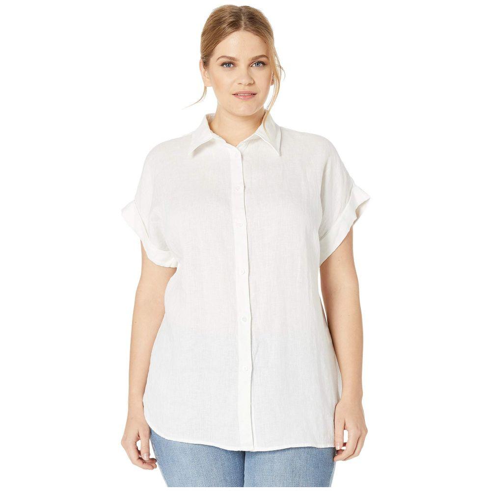 ラルフ ローレン LAUREN Ralph Lauren レディース ブラウス・シャツ 大きいサイズ トップス【Plus Size Linen Dolman-Sleeve Shirt】White