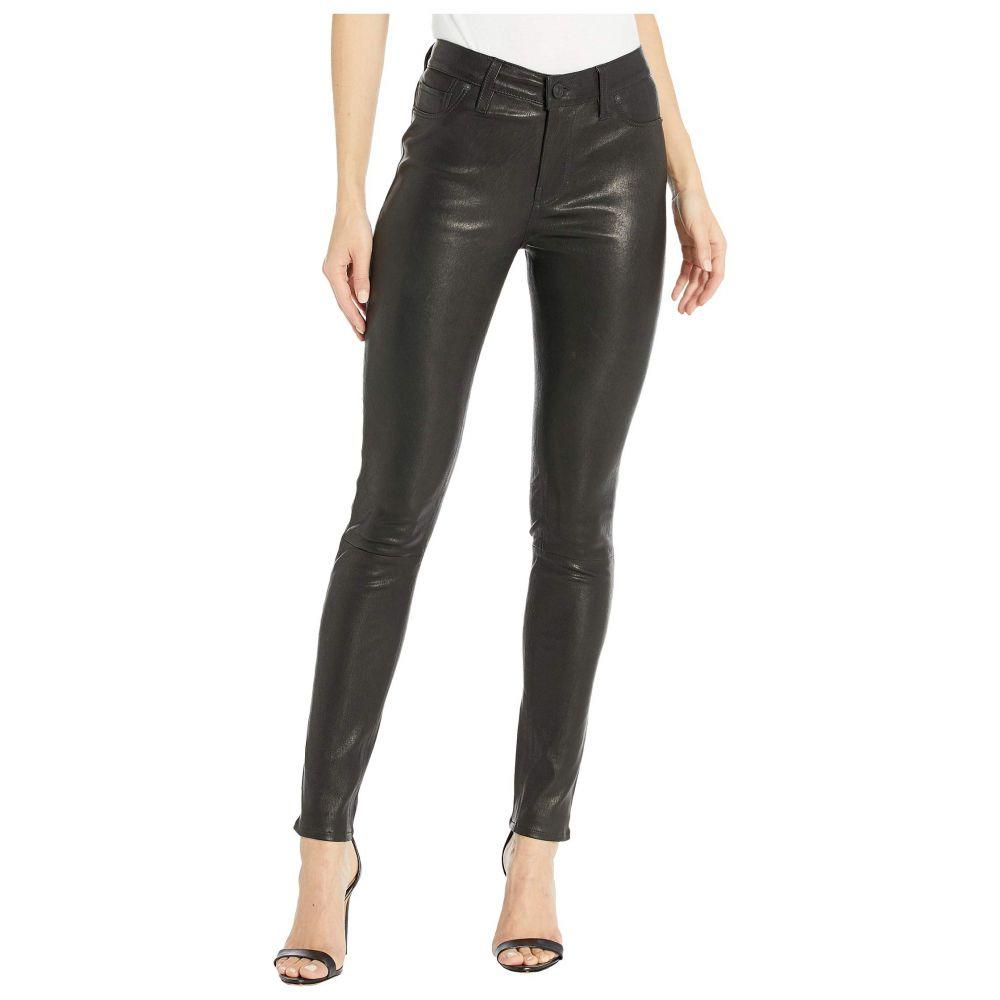 ハドソンジーンズ Hudson Jeans レディース ジーンズ・デニム ボトムス・パンツ【Nico Leather Mid-Rise Skinny in Black】Black