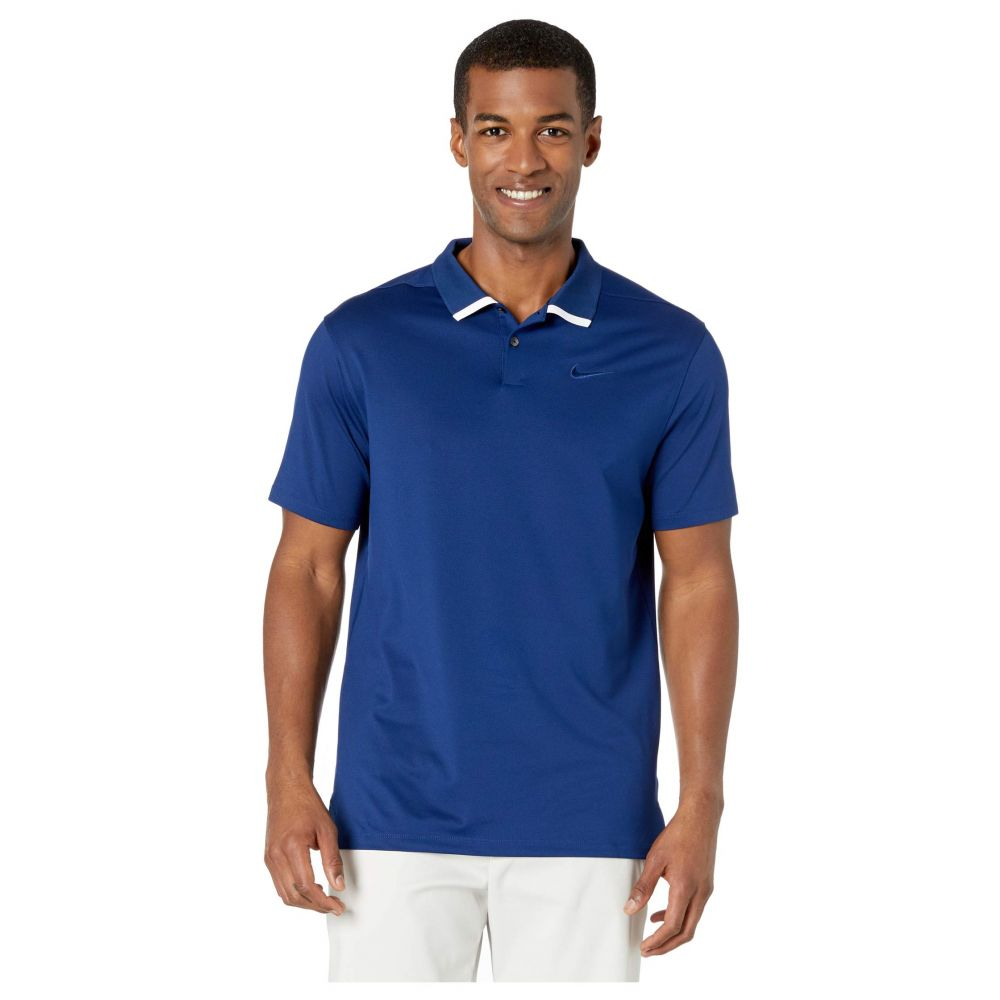 ナイキ Nike Golf メンズ ポロシャツ トップス【Dry Vapor Polo Solid】Blue Void/White/Blue Void
