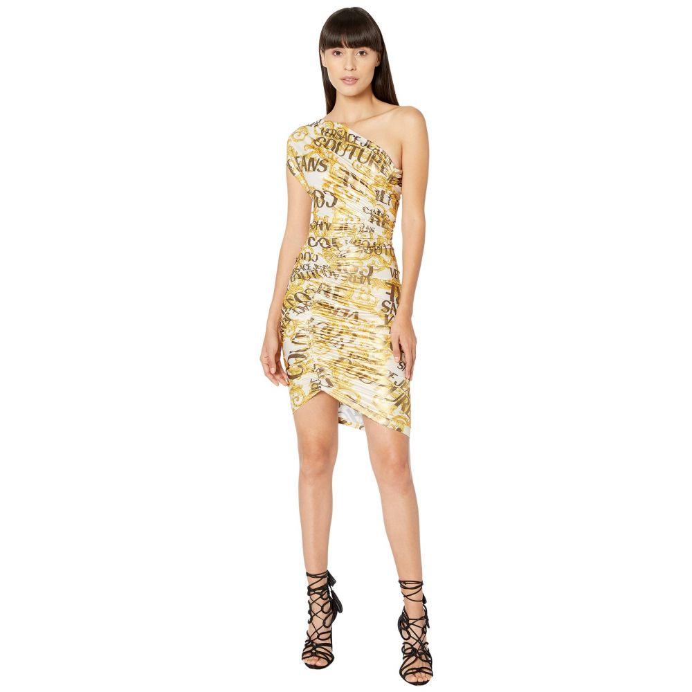 ヴェルサーチ Versace Jeans Couture レディース ワンピース ワンピース・ドレス【Asymmetrical Logo Baroque Dress】