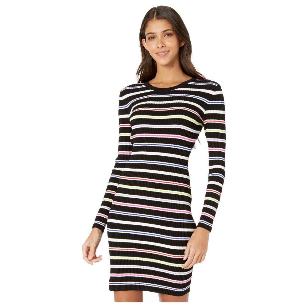 ミリー Milly レディース ワンピース ワンピース・ドレス【Multi Stripe Long Sleeve Dress】Black Multi