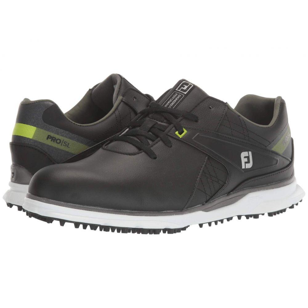 フットジョイ FootJoy メンズ スニーカー シューズ・靴【Pro SL】Black/Lime Trim