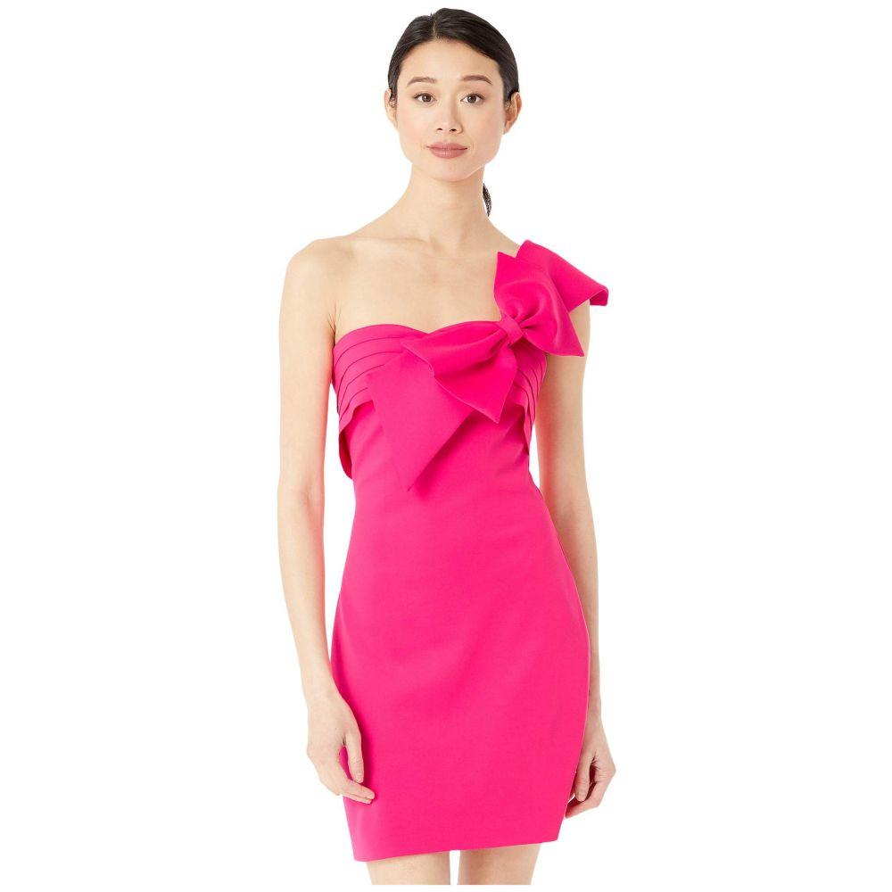 バッジェリー ミシュカ Badgley Mischka レディース ワンピース ミニ丈 ワンピース・ドレス【Strapless Bow Mini】Hot Pink