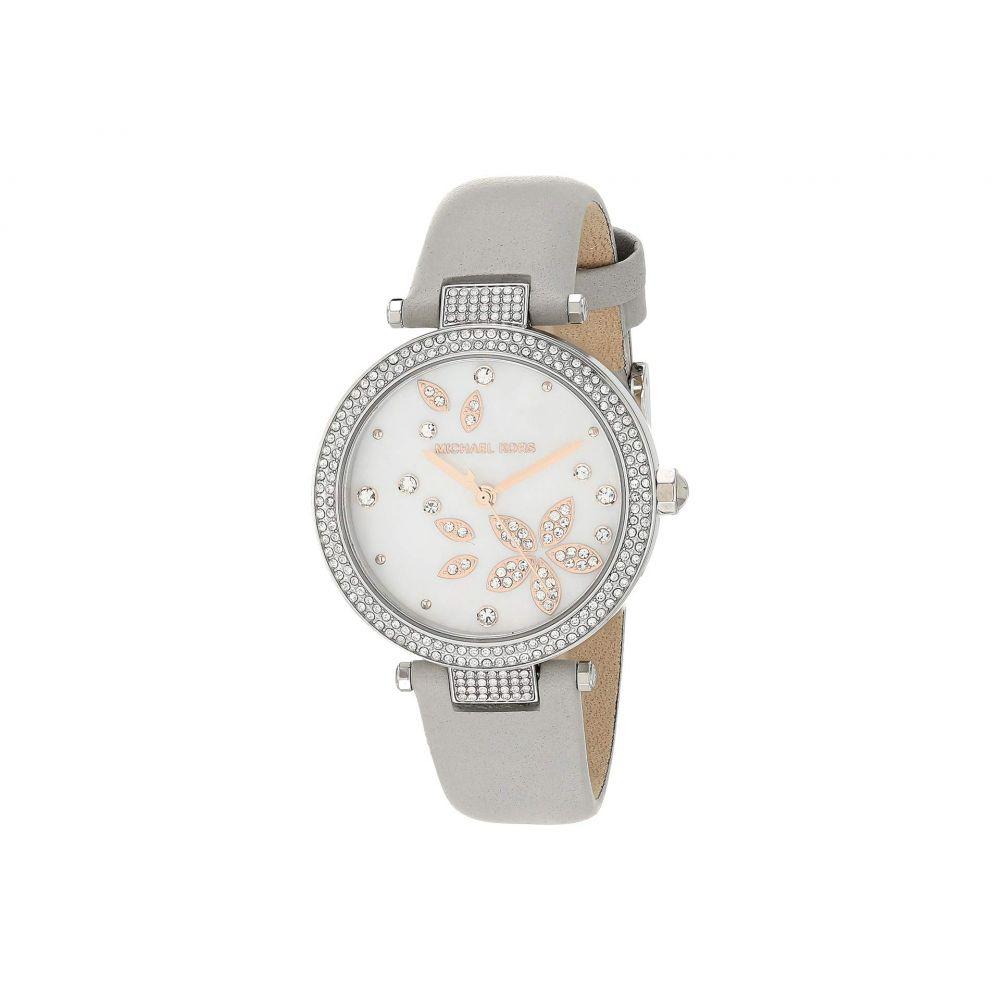 マイケル コース Michael Kors レディース 腕時計 【Parker Three-Hand Leather Watch】Gray