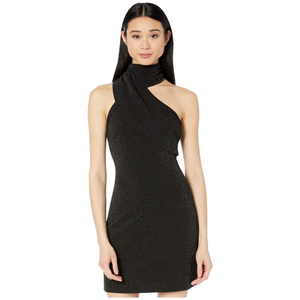 バッジェリー ミシュカ Badgley Mischka レディース パーティードレス カクテルドレス ワンピース・ドレス【Twinkle Crepe Fitted Asymmetrical Cocktail Dress】Black