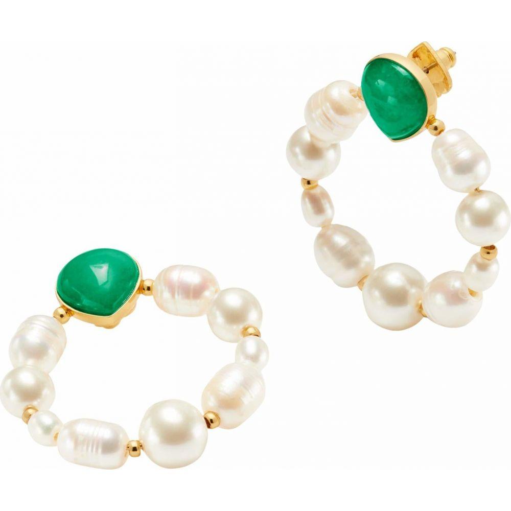 ケイト スペード Kate Spade New York レディース イヤリング・ピアス ジュエリー・アクセサリー【Pearl Drops Hoops Earrings】Green