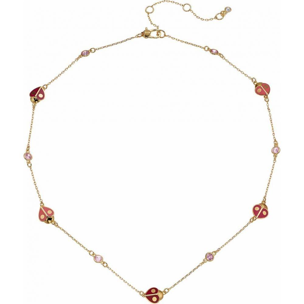 ケイト スペード Kate Spade New York レディース ネックレス ジュエリー・アクセサリー【Animal Party Ladybug Necklace】Red Multi