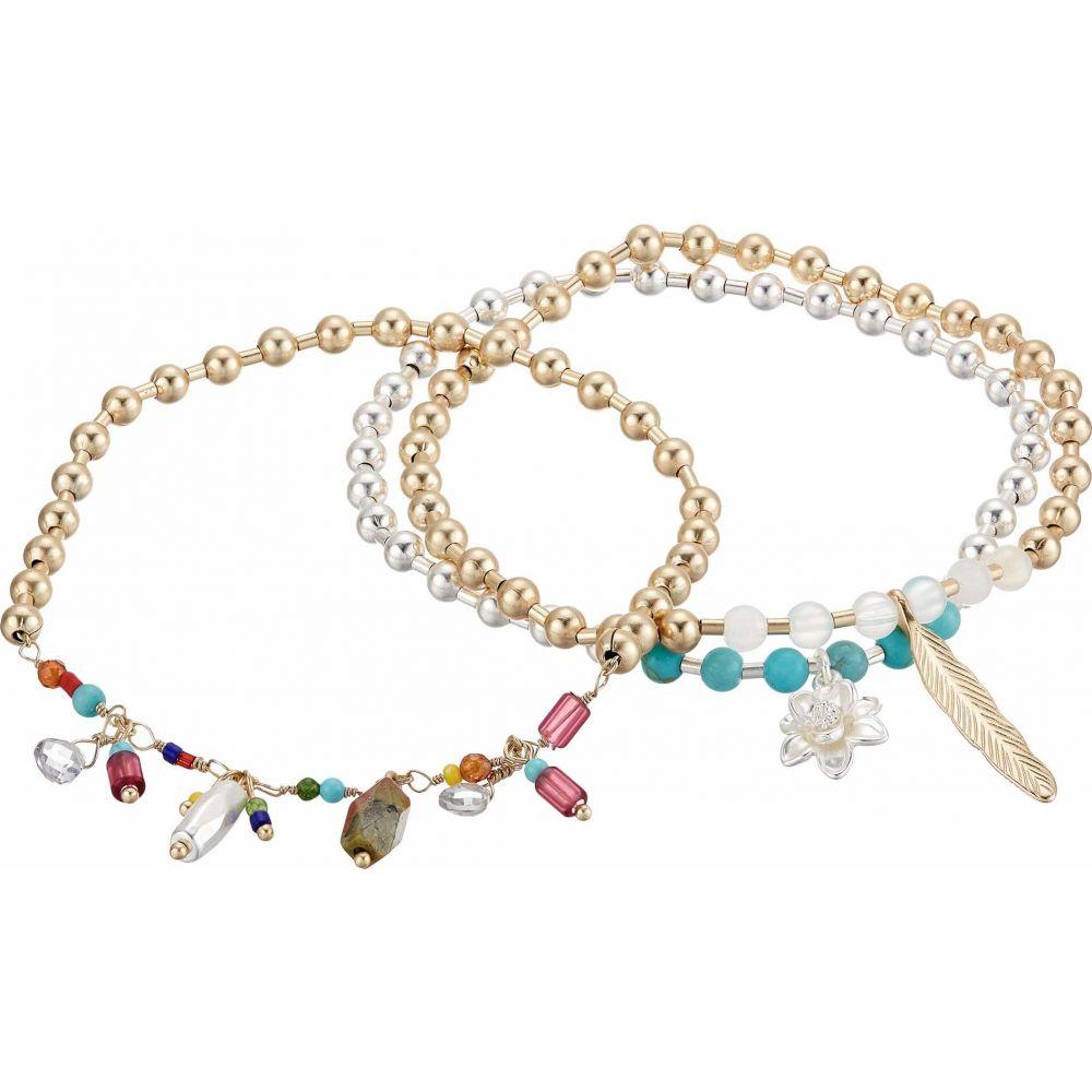ラッキーブランド Lucky Brand レディース ブレスレット ジュエリー・アクセサリー【Beaded Charmed Bracelet】Two-Tone