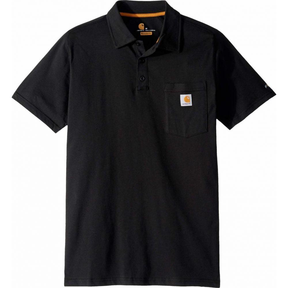 カーハート Carhartt メンズ ポロシャツ トップス【Force Cotton Delmont Pocket Polo】Black