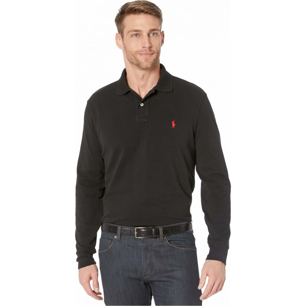 ラルフ ローレン Polo Ralph Lauren メンズ ポロシャツ トップス【Classic Fit Long-Sleeve Polo】Black
