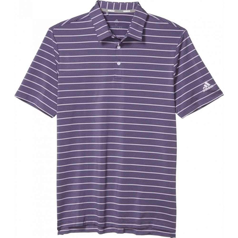 アディダス adidas Golf メンズ ポロシャツ トップス【Ultimate365 Pencil Stripe Polo Shirt】Tech Purple/Collegiate Navy/Purple Tint