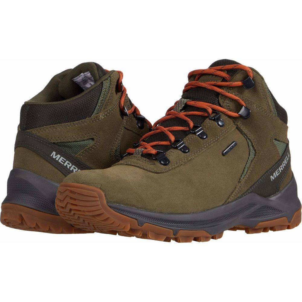 メレル メンズ ハイキング 登山 使い勝手の良い シューズ 靴 Mid Waterproof サイズ交換無料 Erie Olive 今ダケ送料無料 Merrell
