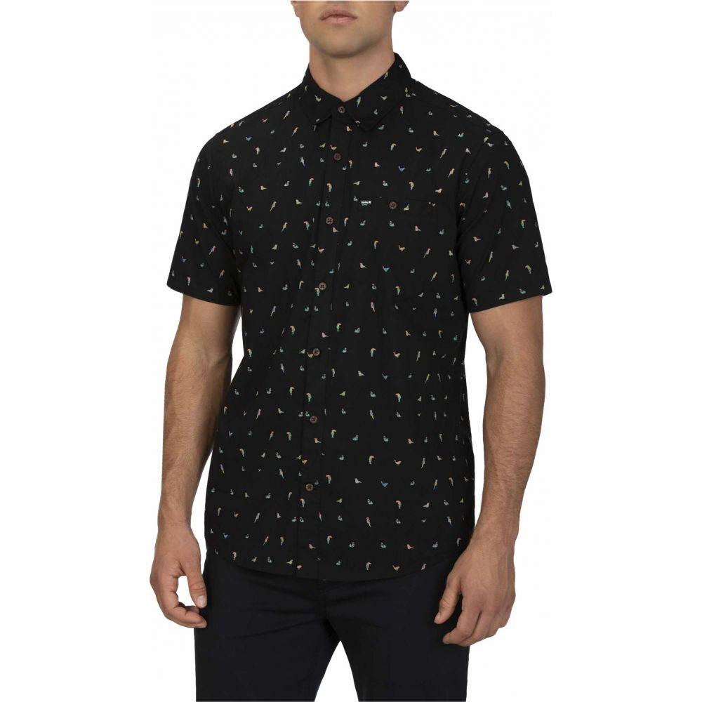 ハーレー Hurley メンズ 半袖シャツ トップス【Birds Stretch Short Sleeve Shirt】Black