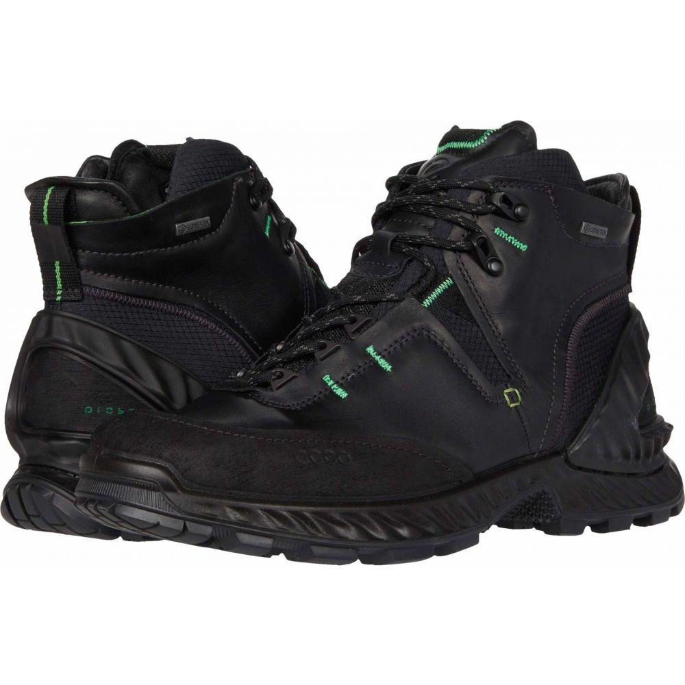 エコー 人気ブランド メンズ ハイキング 登山 シューズ 靴 ディスカウント Exohike High Black サイズ交換無料 Sport ECCO