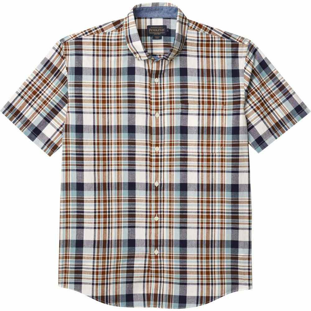 ペンドルトン Pendleton メンズ 半袖シャツ トップス【Short Sleeve Madras Shirt】Blue/Brown Plaid