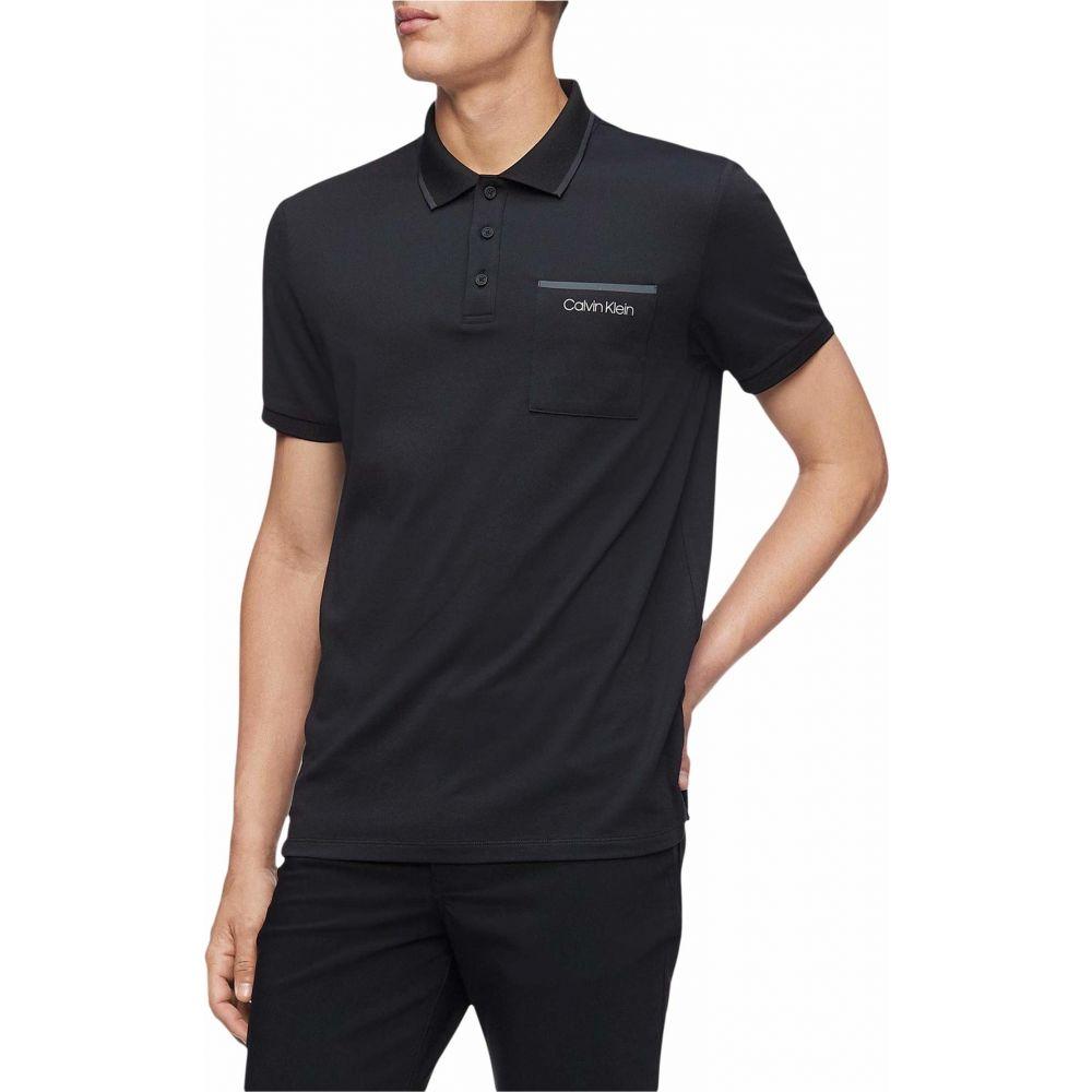 カルバンクライン Calvin Klein メンズ ポロシャツ 半袖 トップス【Move 365 Short Sleeve Pocket Polo Quick Dry & Moisture Wicking Features】Black