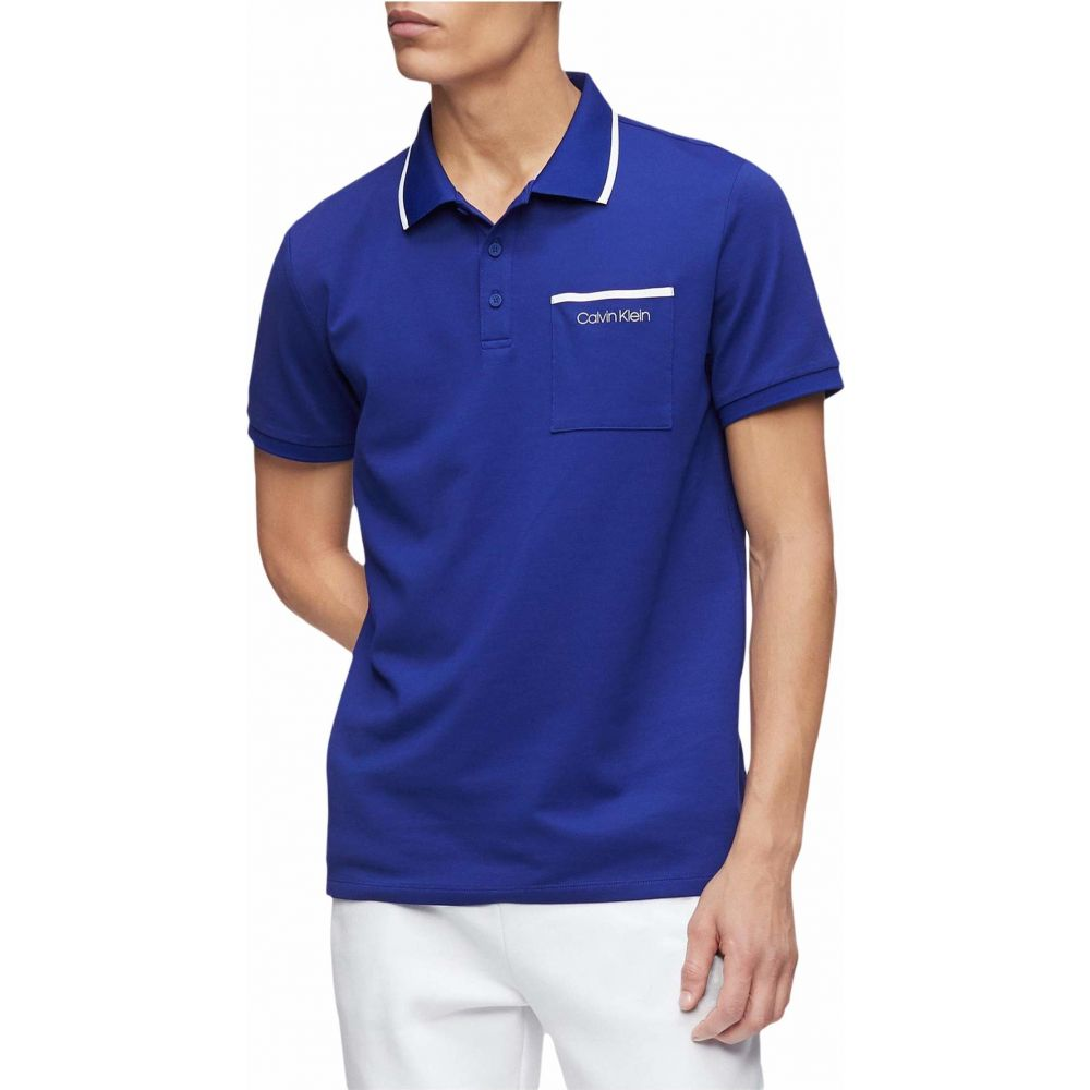 カルバンクライン Calvin Klein メンズ ポロシャツ 半袖 トップス【Move 365 Short Sleeve Pocket Polo Quick Dry & Moisture Wicking Features】Kinetic