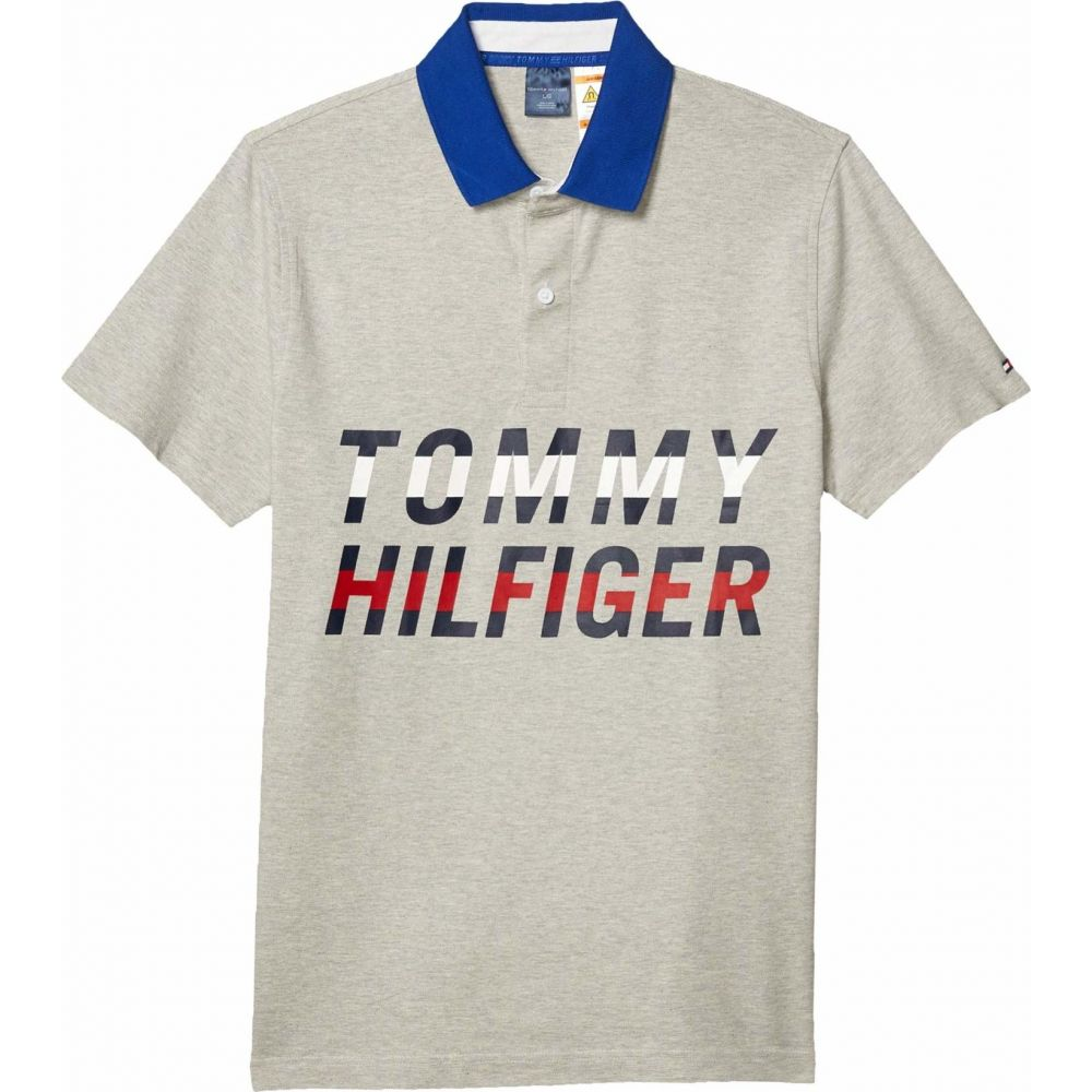 トミー ヒルフィガー Tommy Hilfiger Adaptive メンズ ポロシャツ トップス【Polo Shirt with Magnetic Buttons Slim Fit】Heather Grey