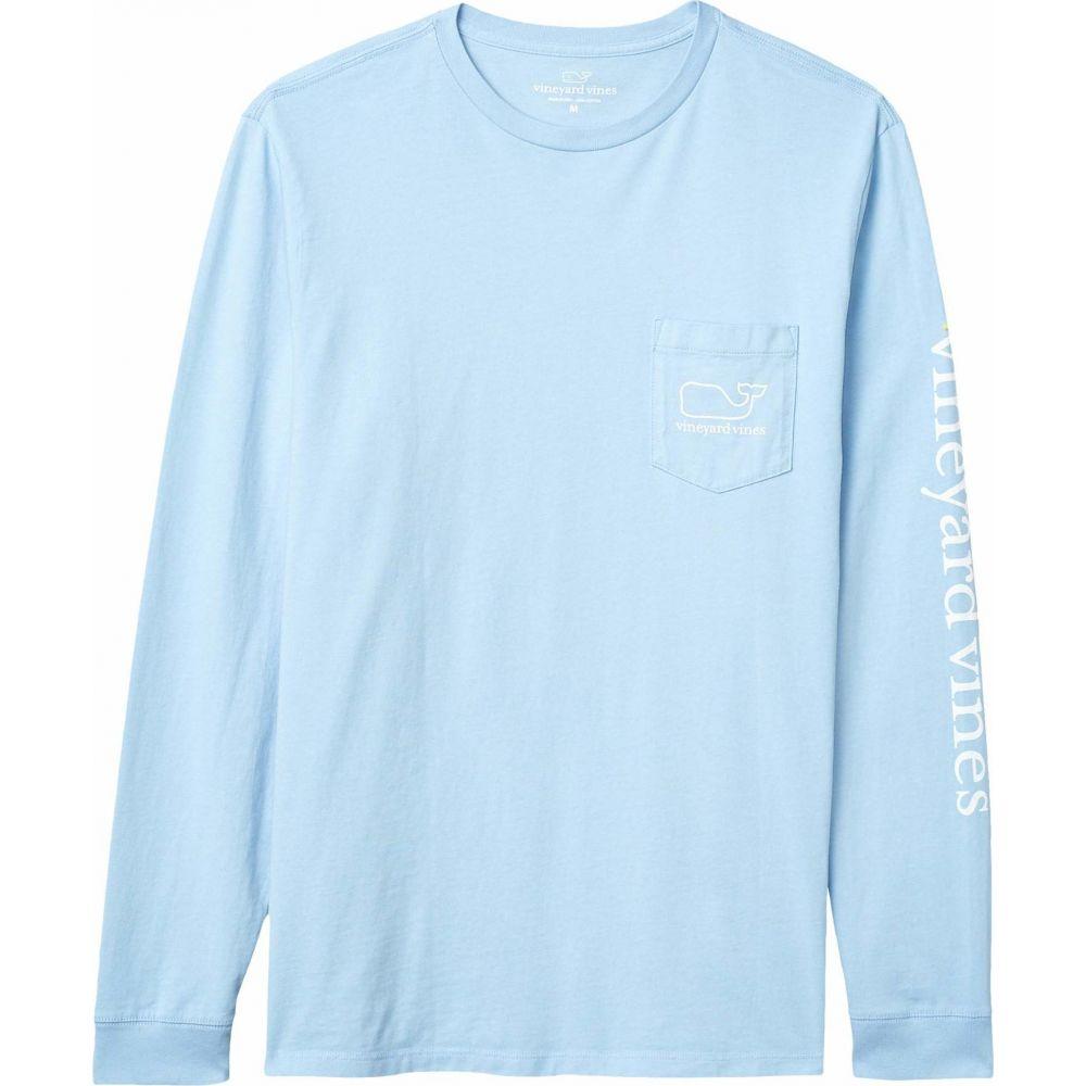 ヴィニヤードヴァインズ Vineyard Vines メンズ 長袖Tシャツ ポケット トップス【Long Sleeve Whale Pocket T-Shirt】Jake Blue