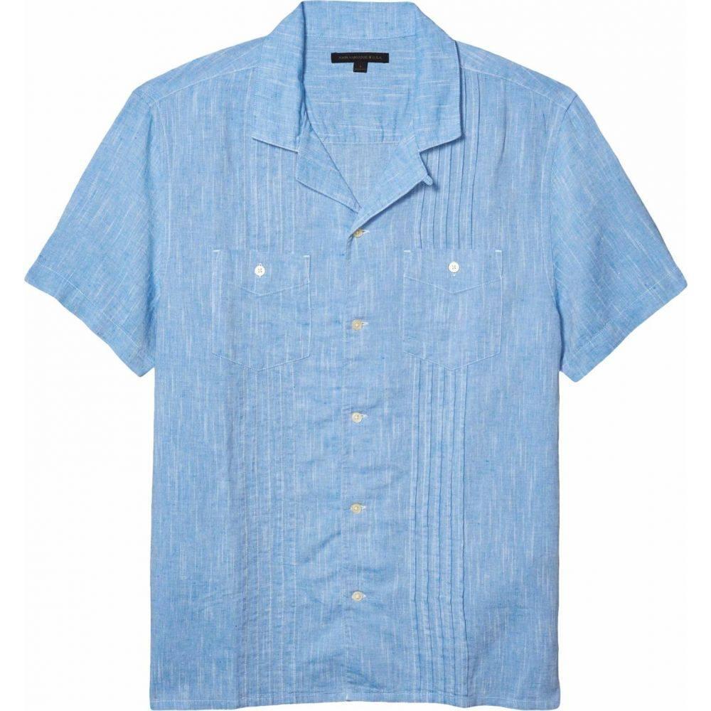 ジョン バルベイトス John Varvatos Star U.S.A. メンズ シャツ トップス【Benny Easy Fit Guayabera Shirt W688W1B】Ocean Blue