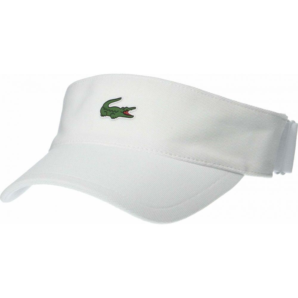 ラコステ Lacoste メンズ サンバイザー 帽子【Sport Petit Pique Golf Visor】White