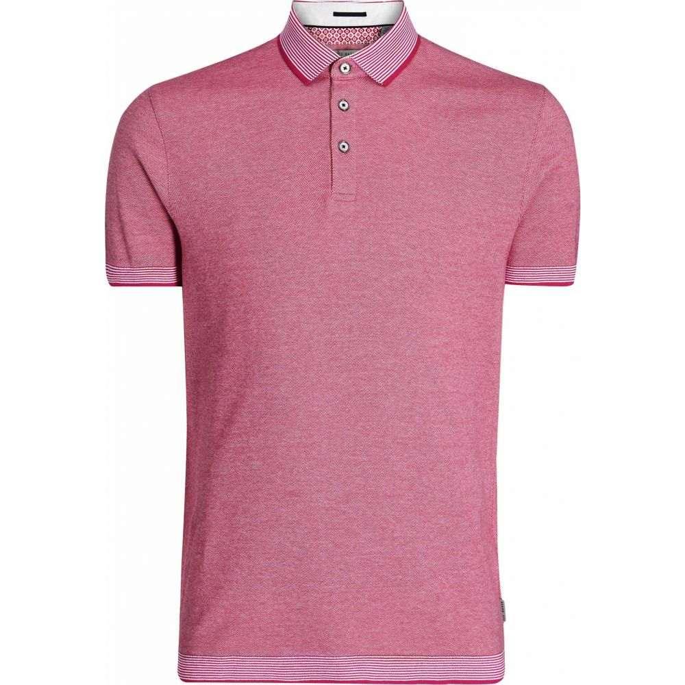 テッドベーカー Ted Baker メンズ ポロシャツ 半袖 トップス【Lateone Short Sleeve Ribstart Polo】Pink