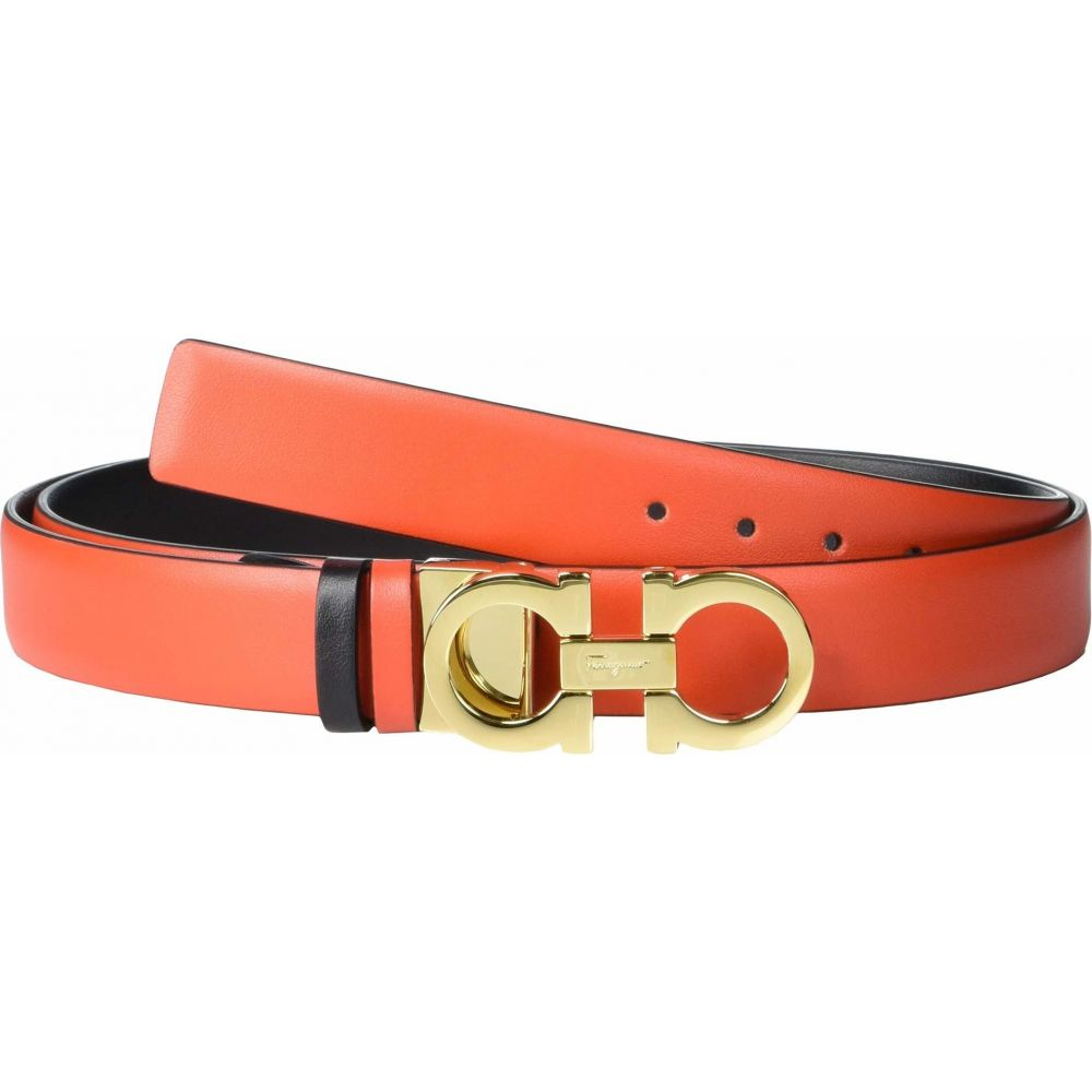 サルヴァトーレ フェラガモ Salvatore Ferragamo レディース ベルト 【Classic 2.5 Gancini Adjustable Belt】Arid Coral/Nero