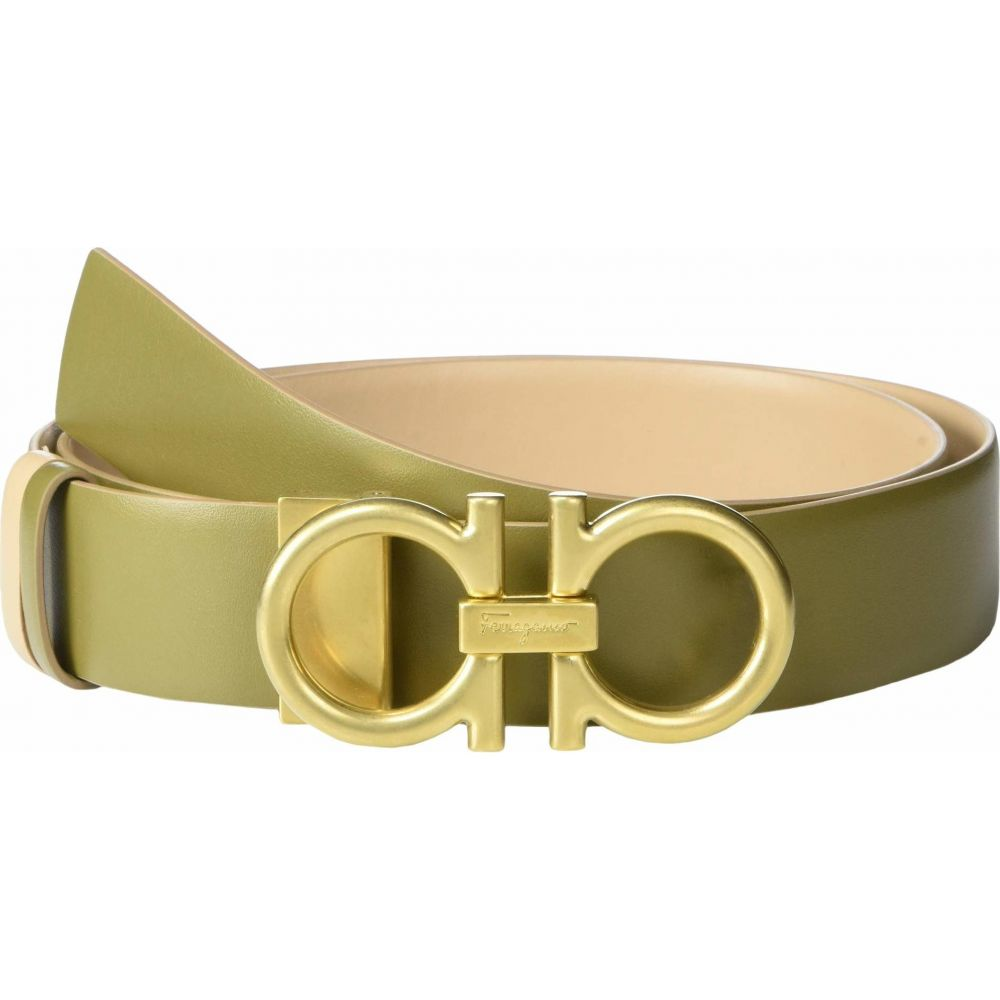 サルヴァトーレ フェラガモ Salvatore Ferragamo レディース ベルト 【New Gancini 3.5 Adjustable Belt】Khaki Green/Almond
