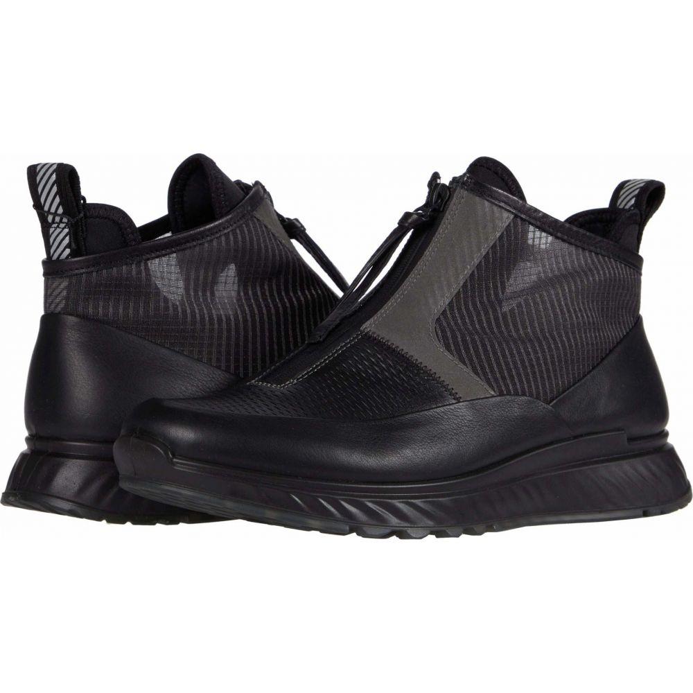 エコー ECCO メンズ スニーカー シューズ・靴【ST.1 Mid Cut Zip Sneaker】Black/Titanium