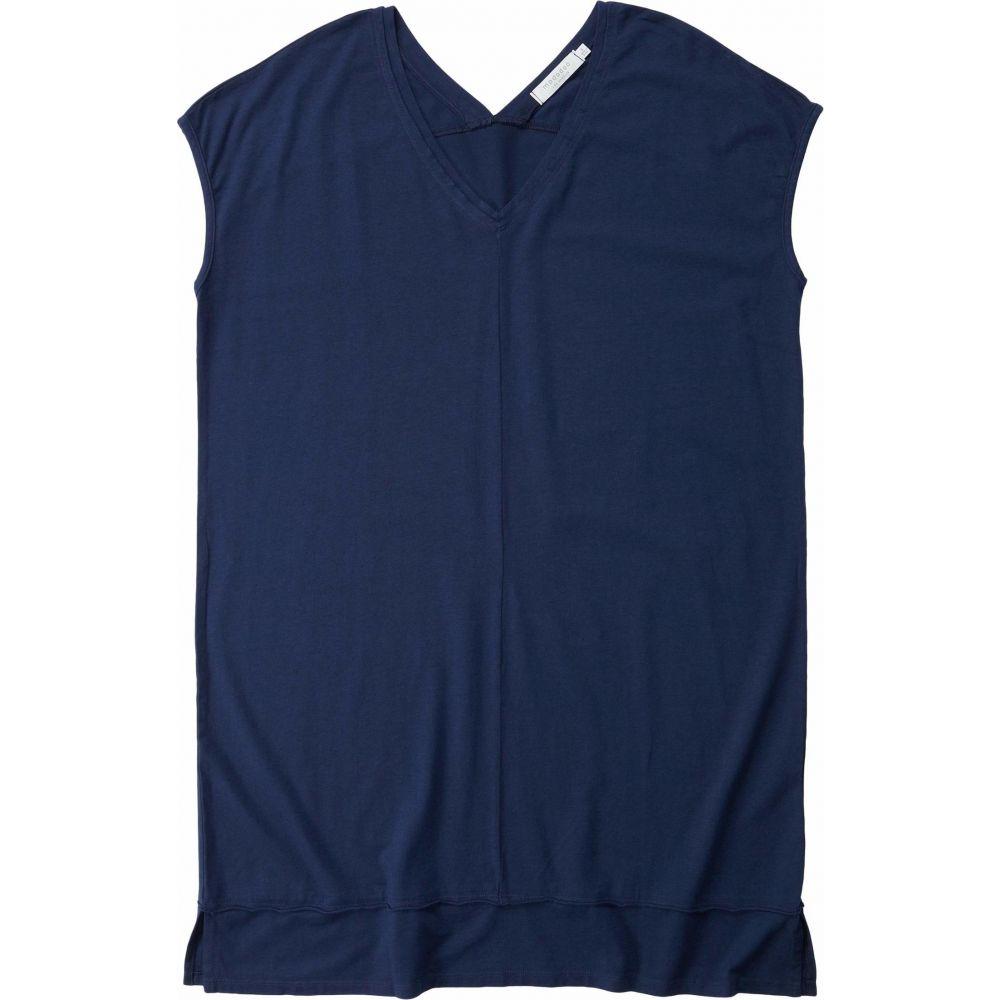モドオードック Mod-o-doc レディース ワンピース Vネック ワンピース・ドレス【Cotton Modal Spandex Short Sleeve Double V-Neck Dress】Twilight