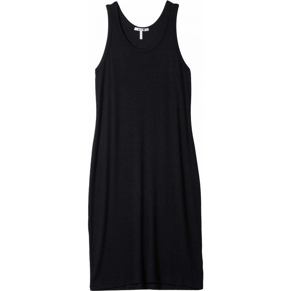スリードッツ Three Dots レディース ワンピース タンクドレス ワンピース・ドレス【Rib Tank Dress】Black