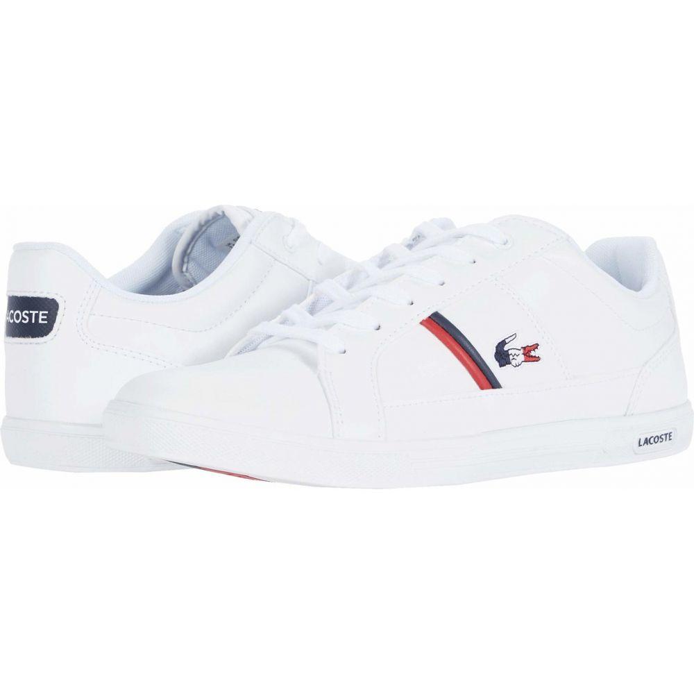 ラコステ Lacoste メンズ スニーカー シューズ・靴【Europa TRI 1】White/Navy/Red