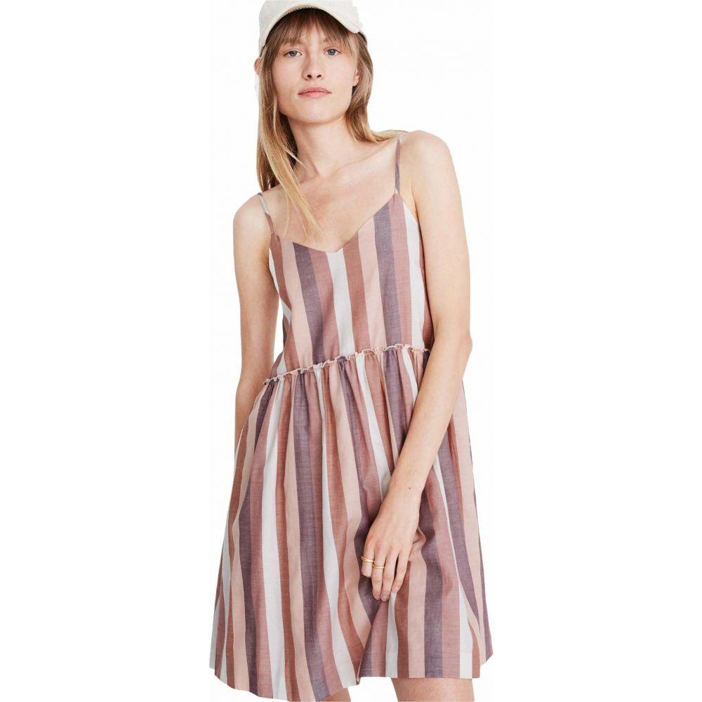 メイドウェル Madewell レディース ワンピース ベビードール キャミワンピ ワンピース・ドレス【Cami Babydoll Dress in Stripe】Luna Stripe Dark Cabernet
