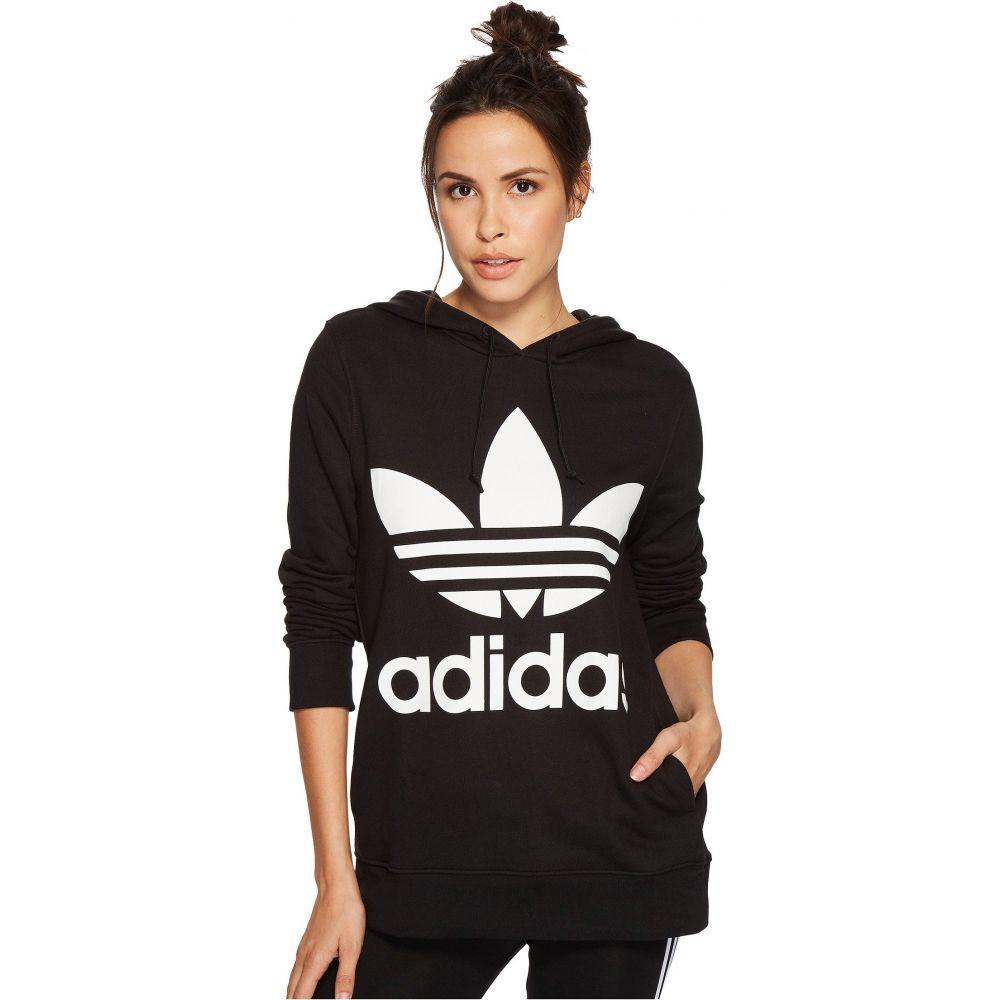 アディダス adidas Originals レディース パーカー トップス【Trefoil Hoodie】Black