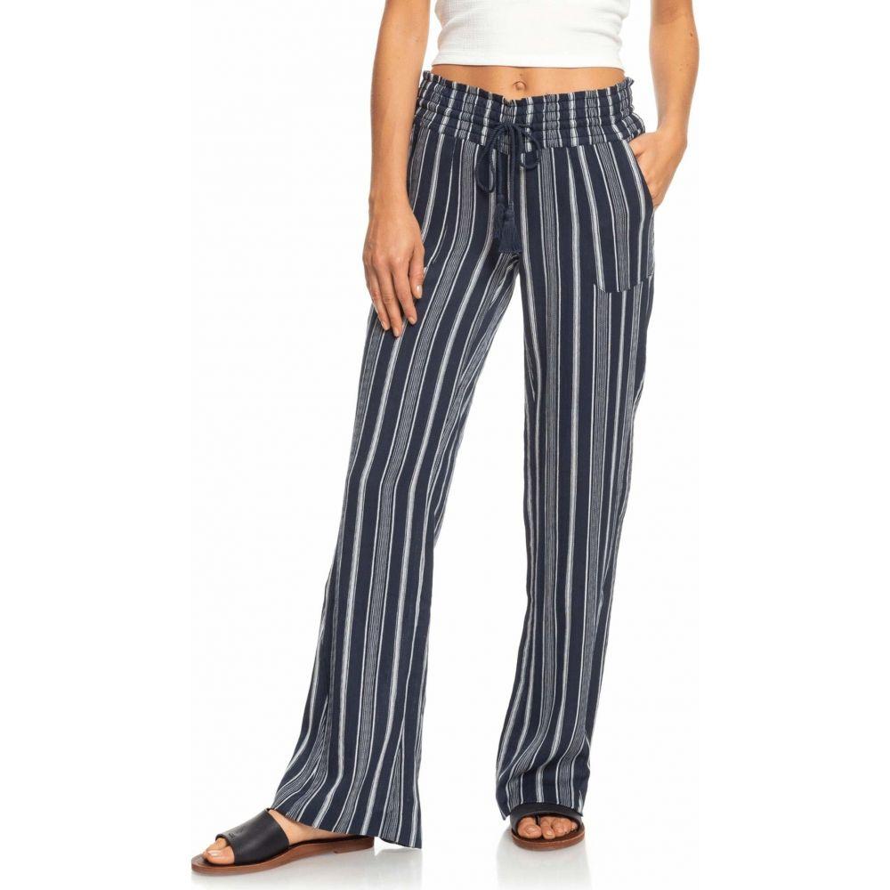 ロキシー Roxy レディース ボトムス・パンツ 【Oceanside Pants Yarn-Dye】Mood Indigo Oceanside Stripes